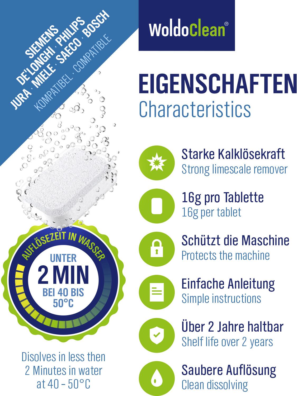20x Reinigungstabletten für Saeco Philips Kaffeevollautomaten