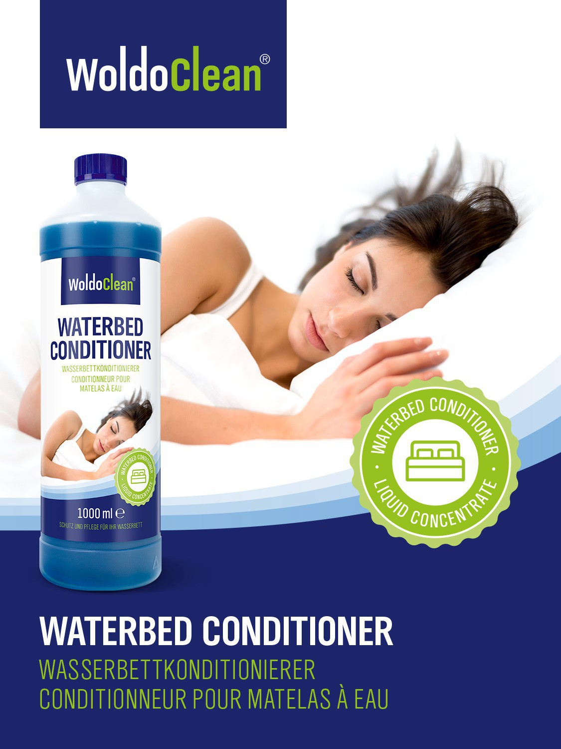 4 liter wasserbetten conditionierer wasserbett conditioner pflege konditionierer ebay. Black Bedroom Furniture Sets. Home Design Ideas